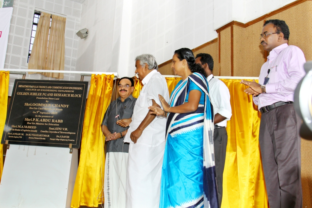 Unveiling Foundation stone for Golden Jubilee PG and research block